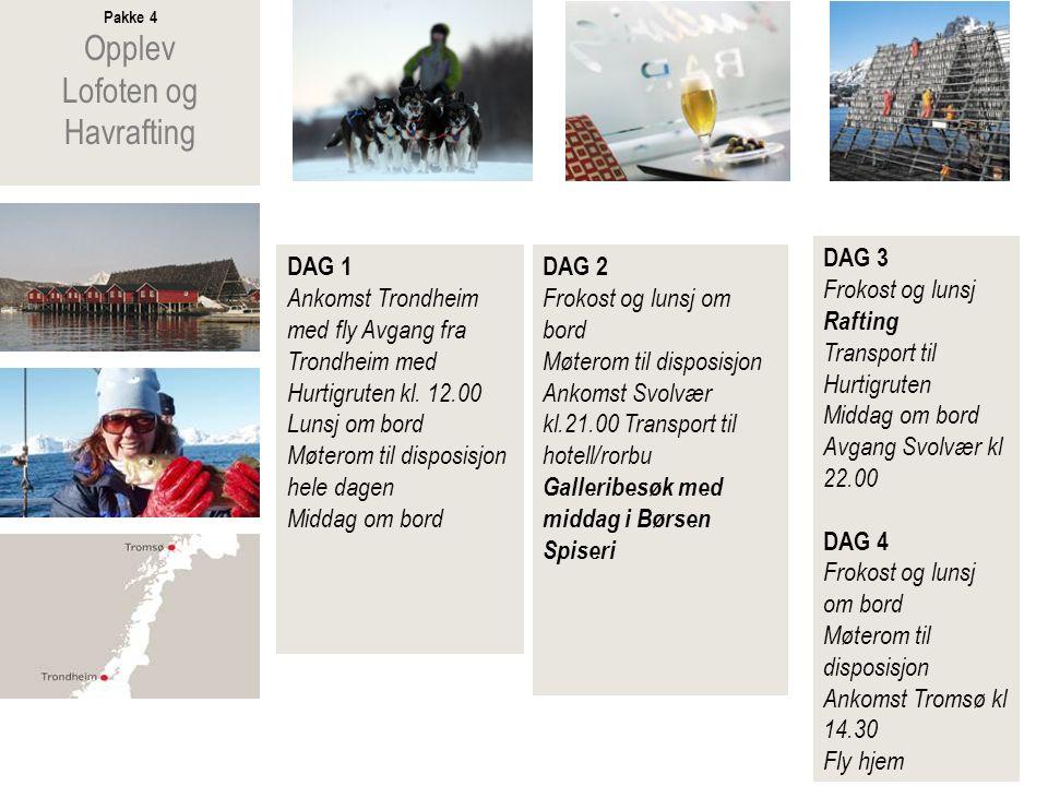 Pakke 5 Opplev Henningsvær og havfiske DAG 1 Ankomst Bodø med fly Avgang fra Bodø med Hurtigruten kl.