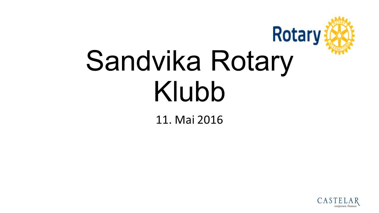 Sandvika Rotary Klubb 11. Mai 2016