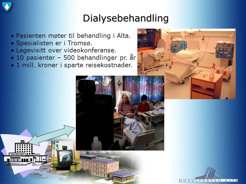 Dialysebehandling Pasienten møter til behandling i Alta.