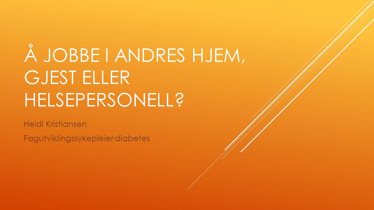 Å JOBBE I ANDRES HJEM, GJEST ELLER HELSEPERSONELL.