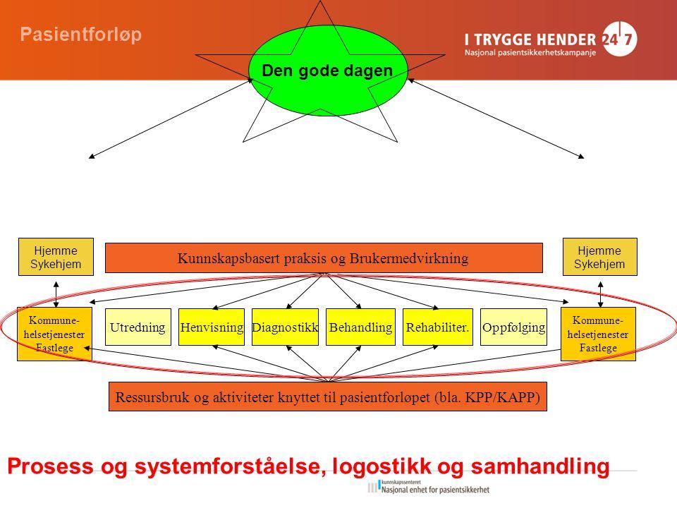 Kommune- helsetjenester Fastlege UtredningBehandlingHenvisningDiagnostikkOppfølgingRehabiliter.