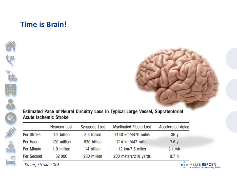 Time is Brain! Saver, Stroke 2006