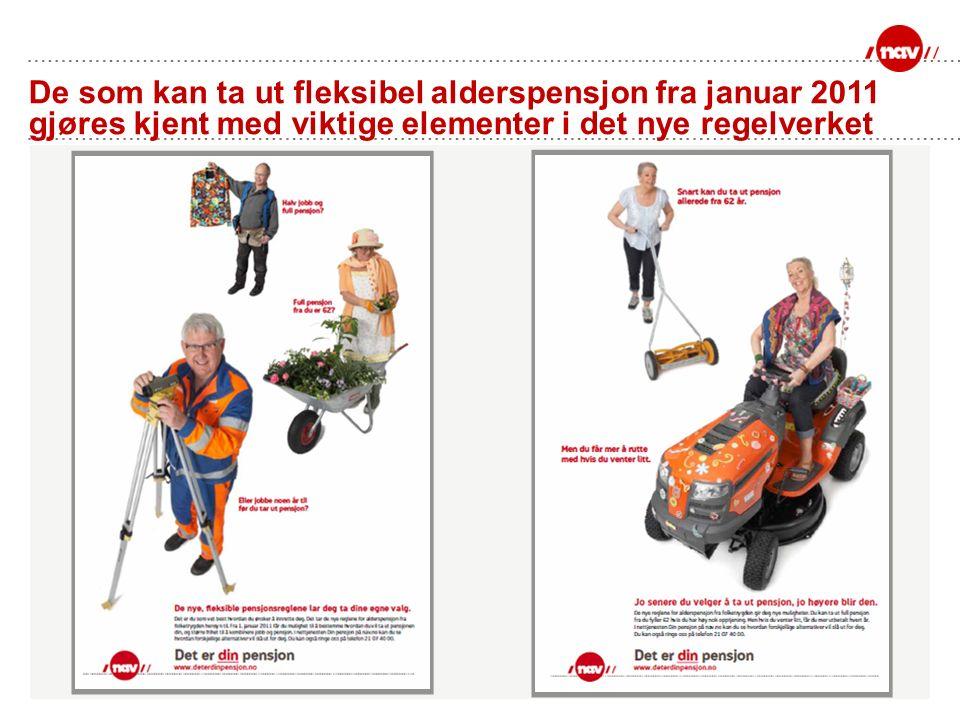 De som kan ta ut fleksibel alderspensjon fra januar 2011 gjøres kjent med viktige elementer i det nye regelverket
