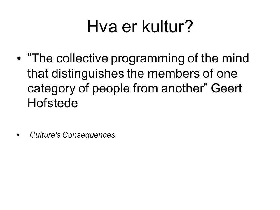 Hva er kultur.