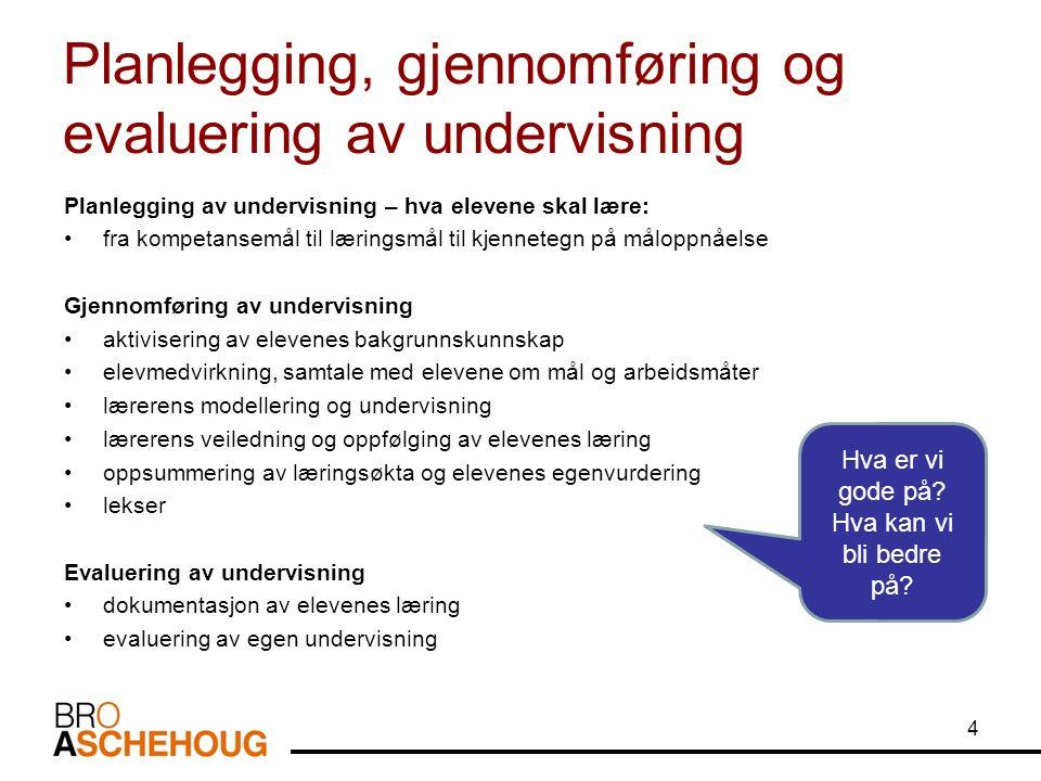 Et undervisningsforløp 5 Tor Arne Wølner