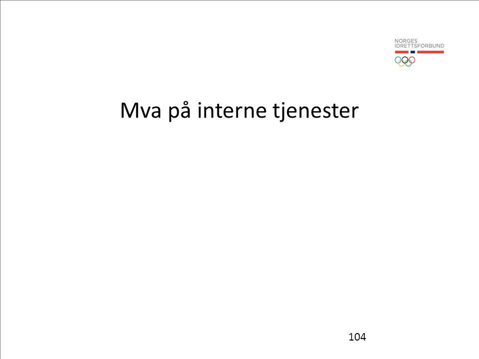 104 Mva på interne tjenester