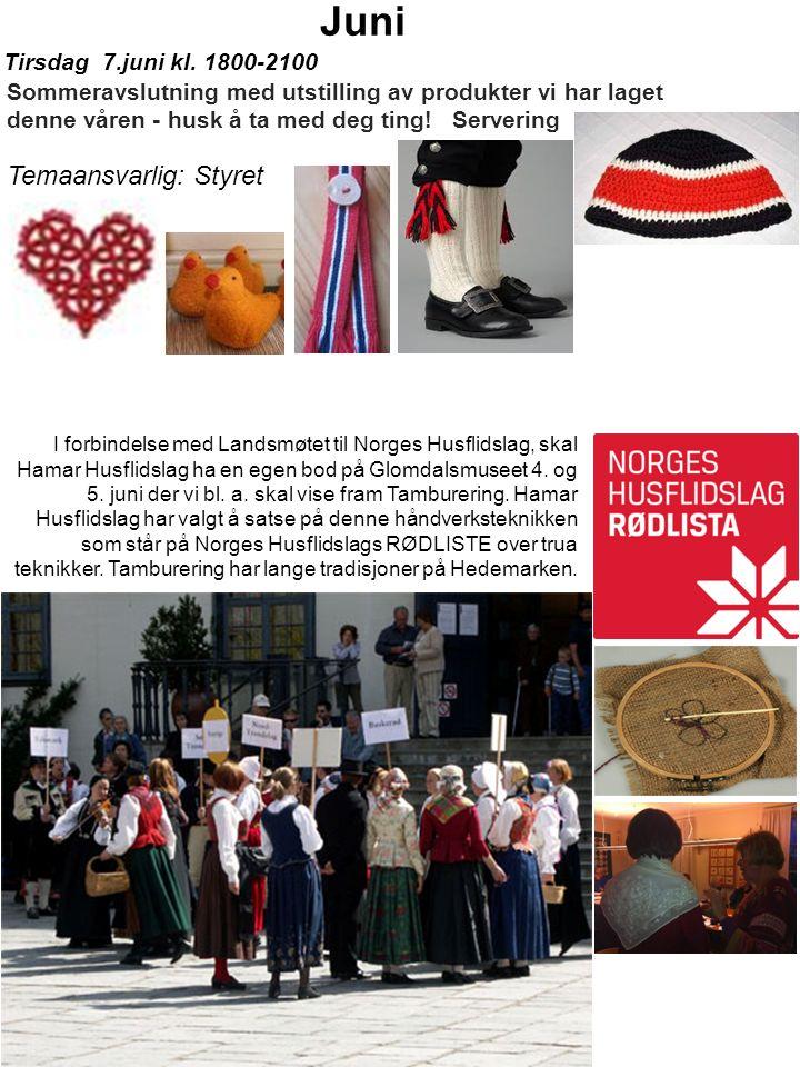 I forbindelse med Landsmøtet til Norges Husflidslag, skal Hamar Husflidslag ha en egen bod på Glomdalsmuseet 4.
