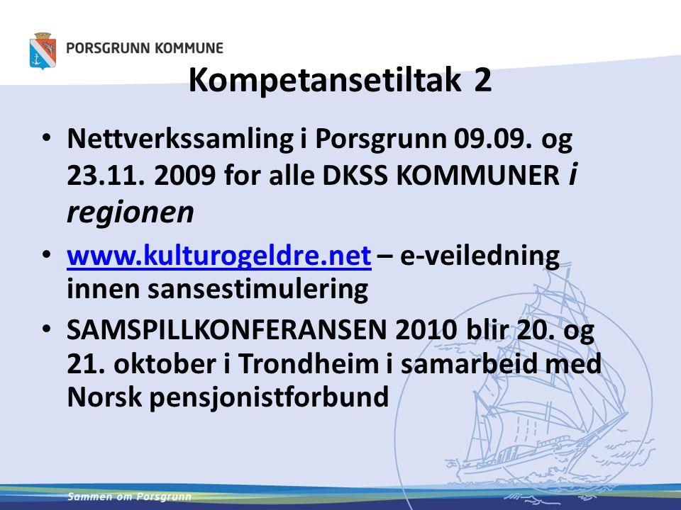 Kompetansetiltak 2 Nettverkssamling i Porsgrunn 09.09.
