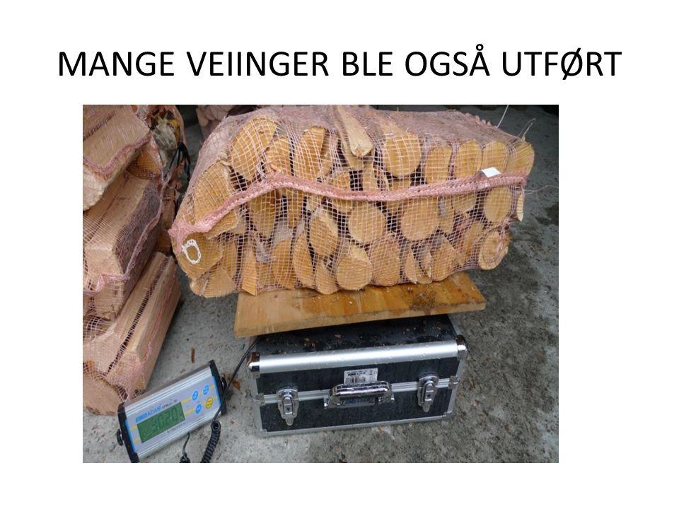 MANGE VEIINGER BLE OGSÅ UTFØRT