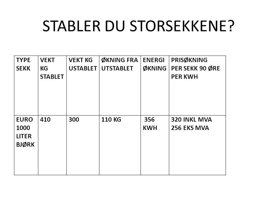 STABLER DU STORSEKKENE.