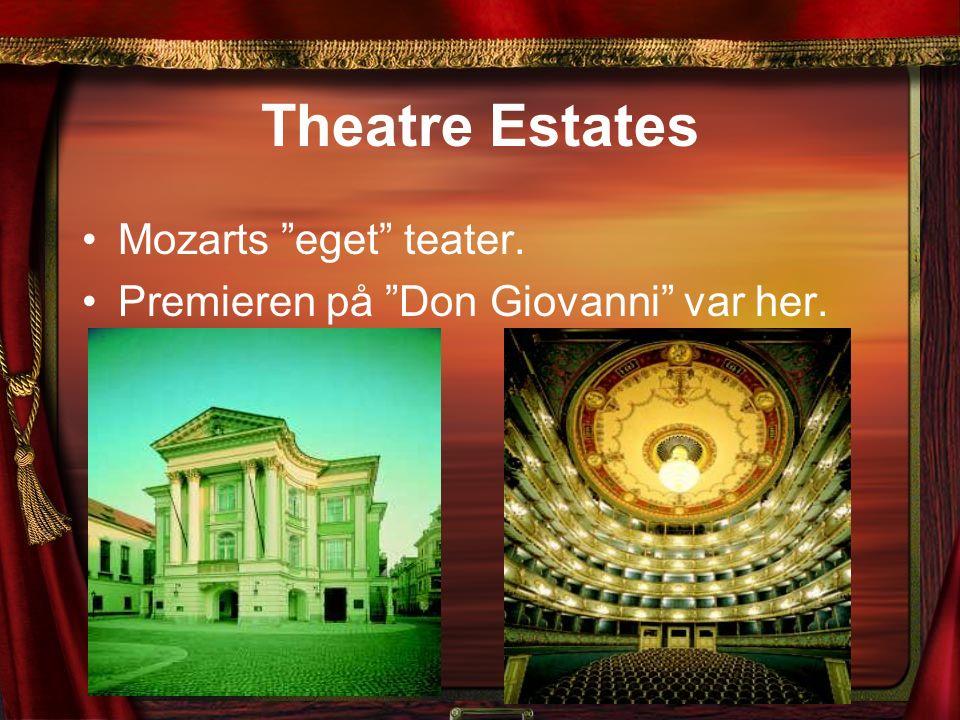 """Theatre Estates Mozarts """"eget"""" teater. Premieren på """"Don Giovanni"""" var her."""
