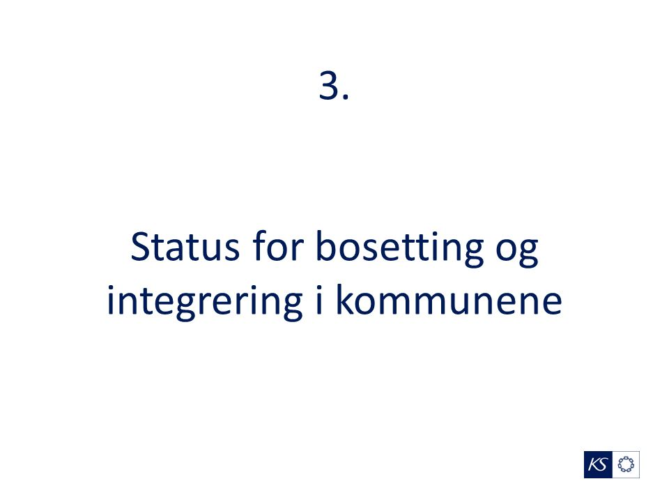3. Status for bosetting og integrering i kommunene