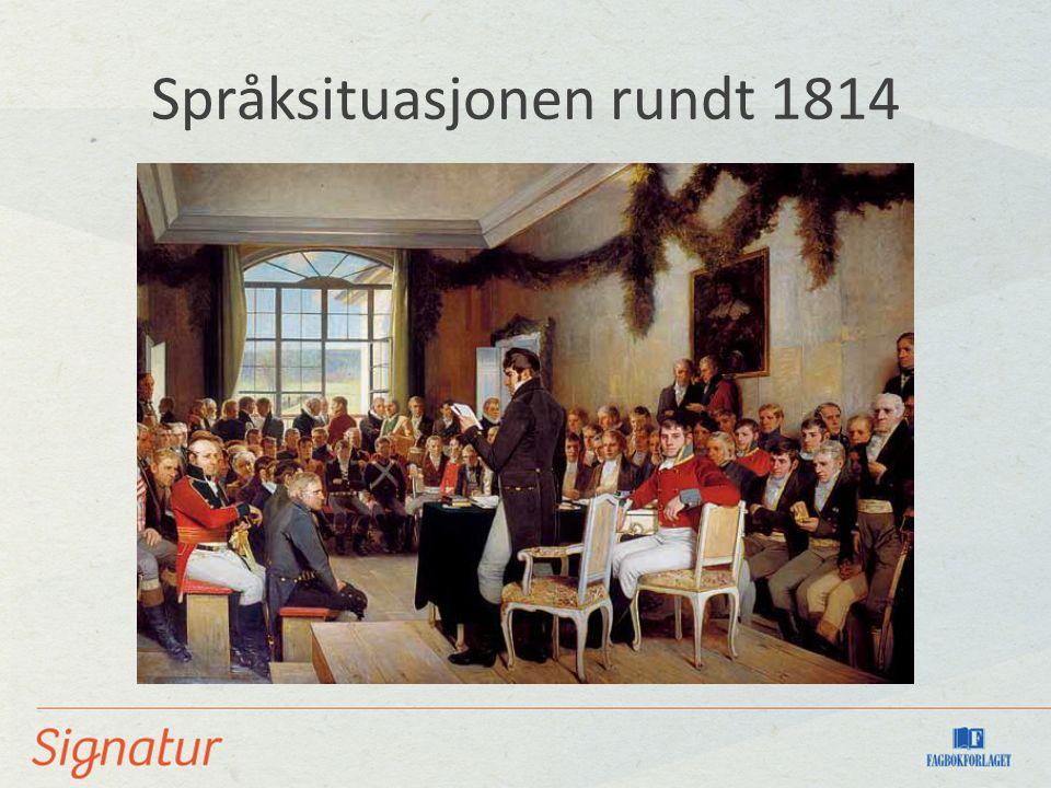 Språksituasjonen rundt 1814