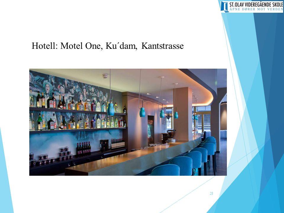 Hotell: Motel One, Ku´dam, Kantstrasse 28