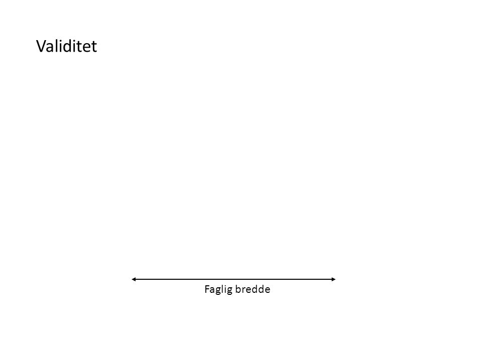 Validitet Klinisk kompetanse – multidimensjonal validitet Millers pyramide