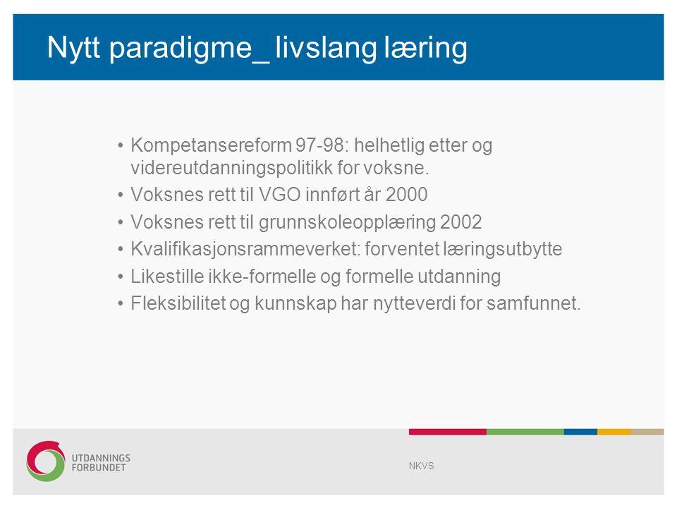 Nytt paradigme Med Stortings meld.nr.
