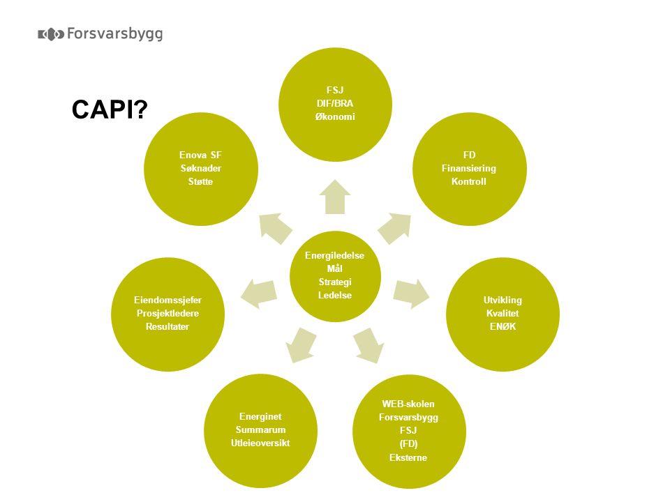 Vårt fokusområde  Bidra til å etablere en effektiv helhetlig forvaltning for Forsvarets samlede eiendomsmasse  Bidra til optimalisering ved nybygging og ombygging knyttet til Forsvarets omstilling og konsentrasjon av virksomheten Ønsker å påvirke adferd Fremme bedre ressursutnyttelse Økonomiske besparelser Bygge opp system som aktivt styrer og sikrer høy effektivitet