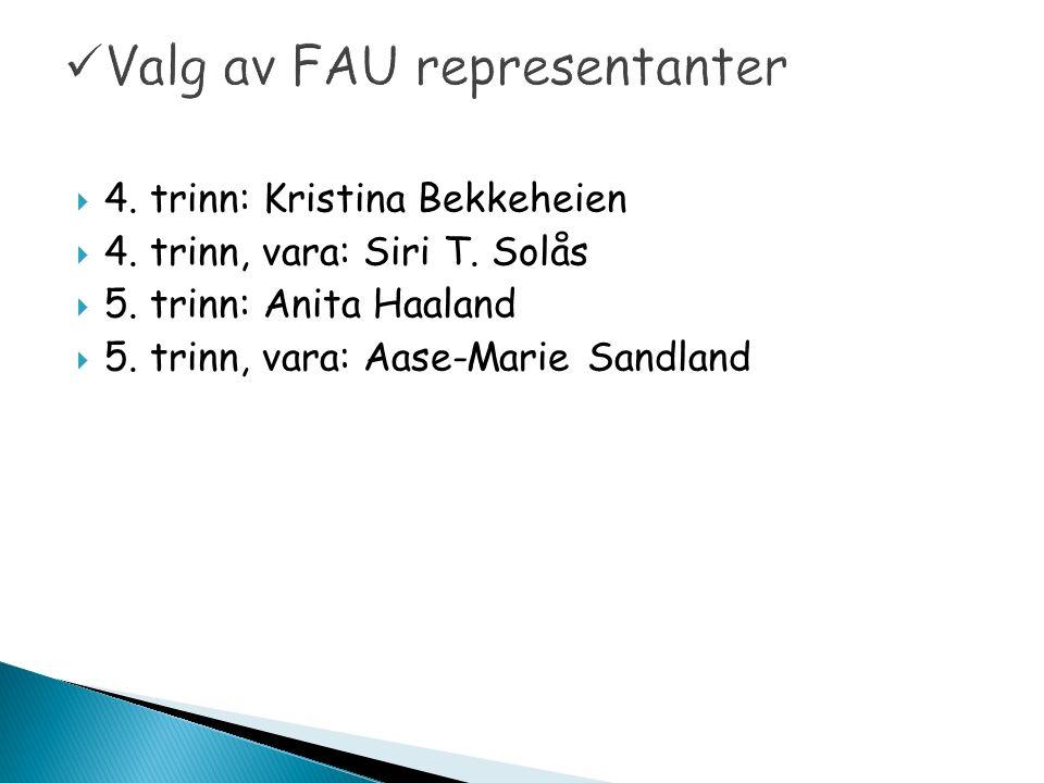  4. trinn: Kristina Bekkeheien  4. trinn, vara: Siri T.