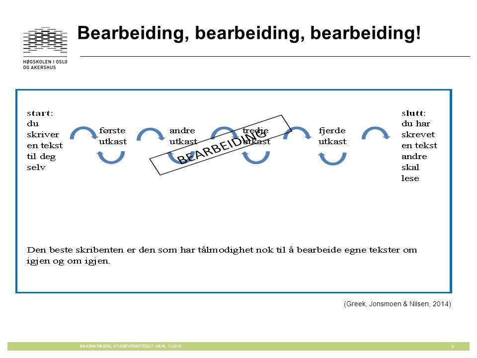 Bearbeiding, bearbeiding, bearbeiding.