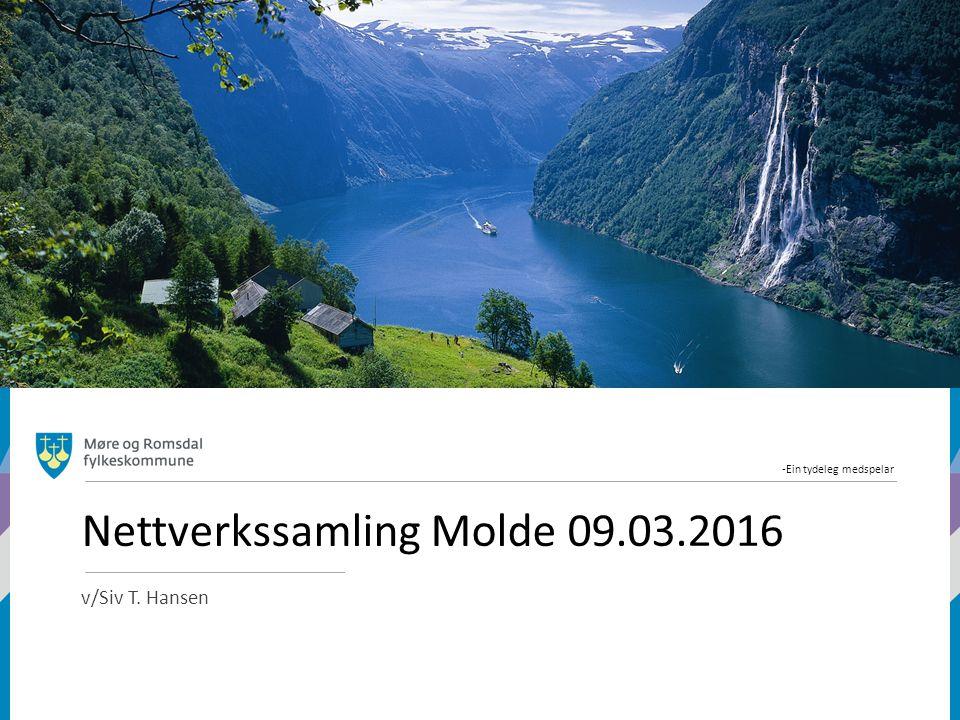 -Ein tydeleg medspelar Nettverkssamling Molde 09.03.2016 v/Siv T. Hansen