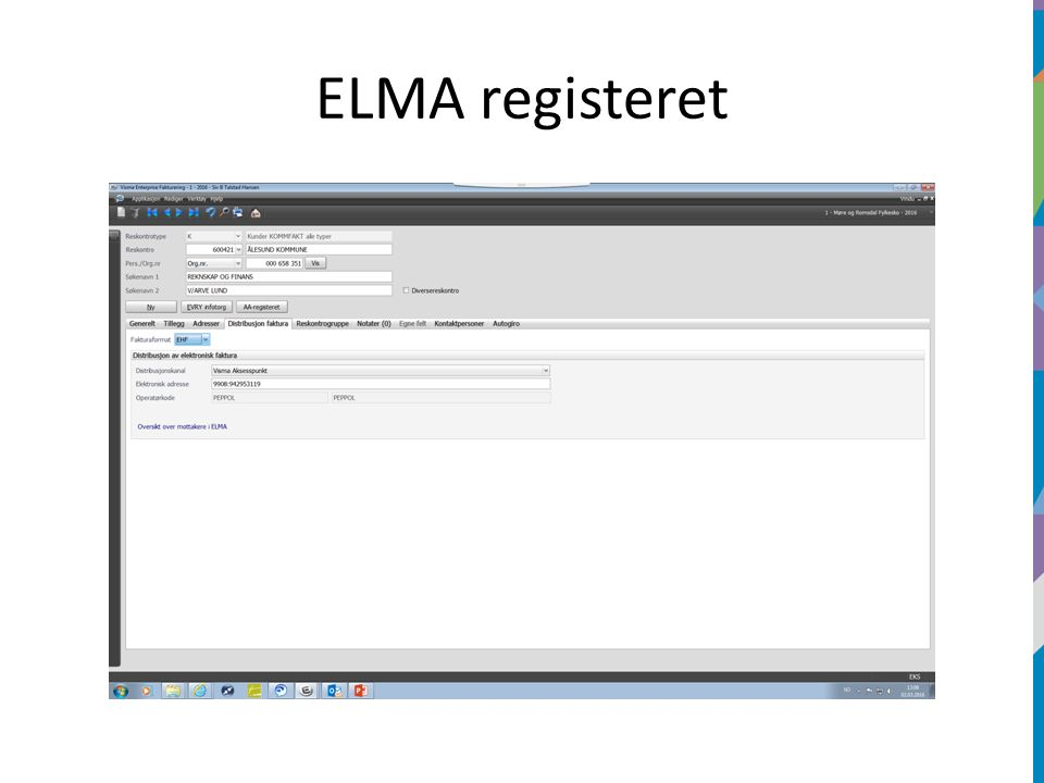 ELMA registeret