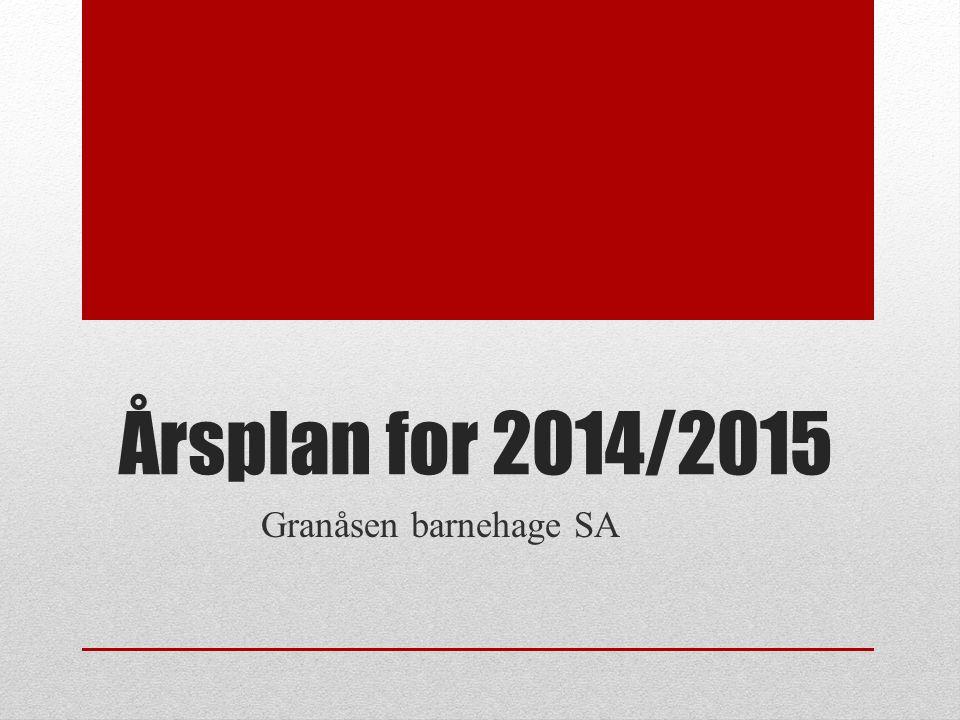 Årsplan for 2014/2015 Granåsen barnehage SA