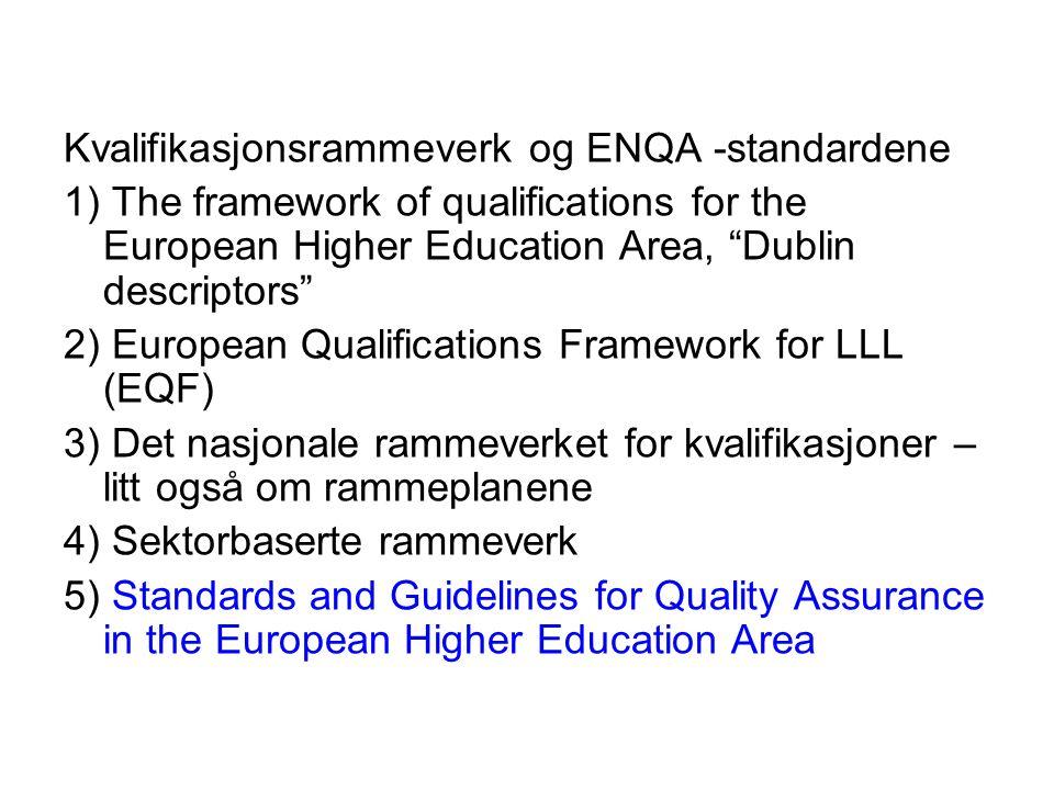 1.syklus Nasjonalt rammeverk for kvalifikasjoner for høyere utdanning 20.03.2009.