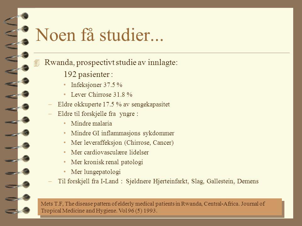 Noen få studier...