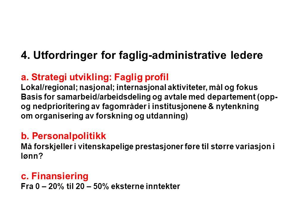 4.Utfordringer for faglig-administrative ledere a.