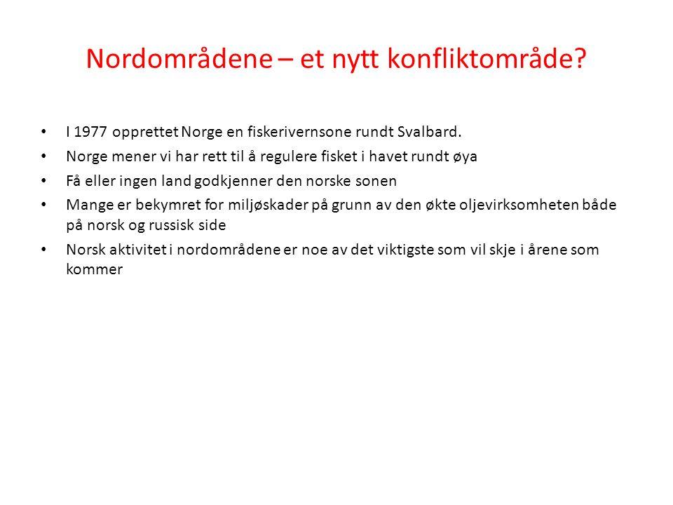 I 1977 opprettet Norge en fiskerivernsone rundt Svalbard.