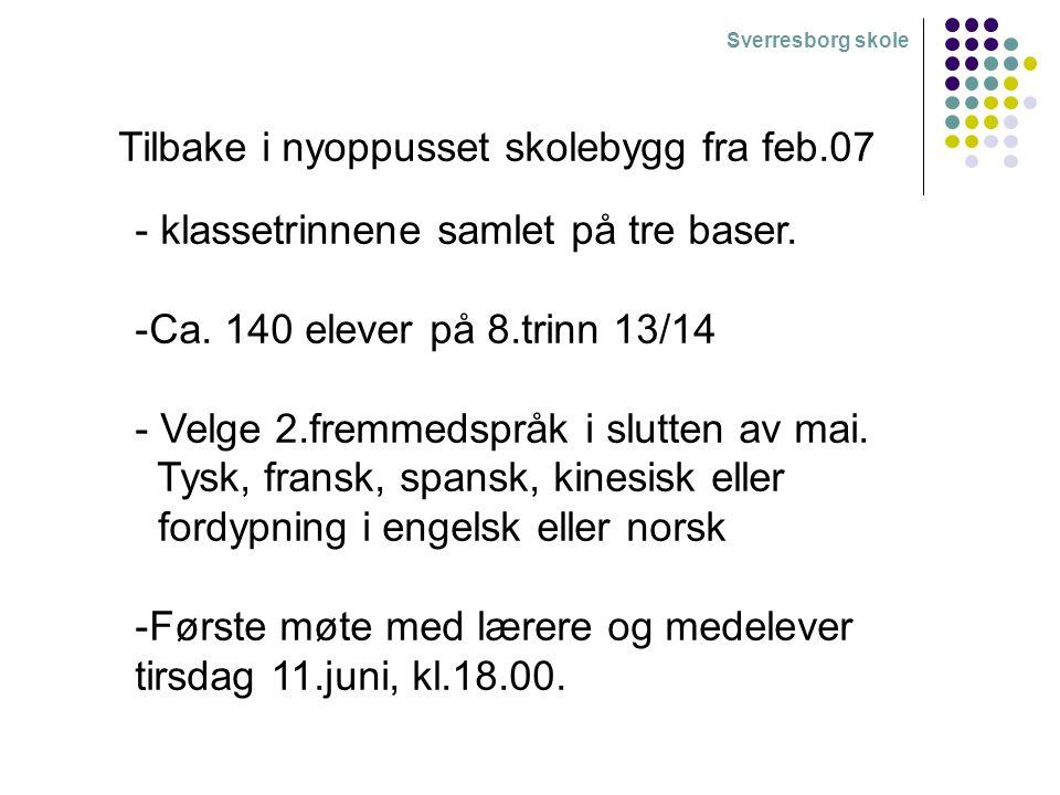Sverresborg skole Timeplan Start kl.