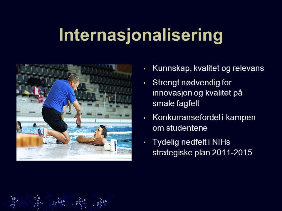 Visjon: NIH skal være en internasjonalt ledende institusjon når det gjelder utdanning og forskning innenfor idrett og fysisk aktivitet