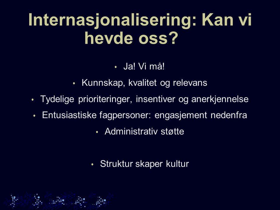 Internasjonalisering: Kan vi hevde oss. Ja. Vi må.