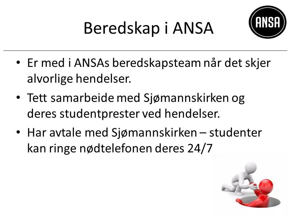 Beredskap i ANSA Er med i ANSAs beredskapsteam når det skjer alvorlige hendelser.