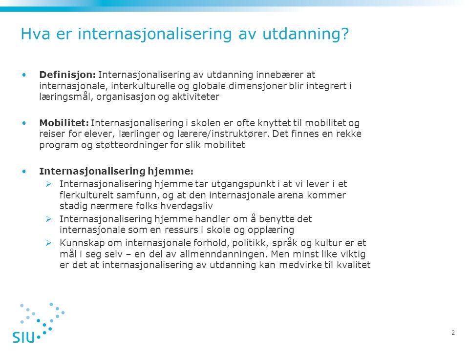Hva er internasjonalisering av utdanning.