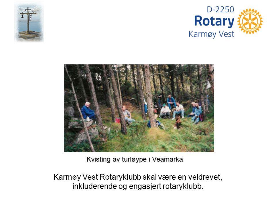 Karmøy Vest Rotaryklubb skal være en veldrevet, inkluderende og engasjert rotaryklubb. Kvisting av turløype i Veamarka