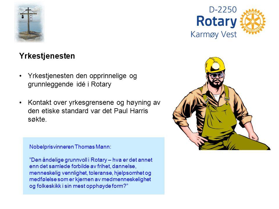 """Nobelprisvinneren Thomas Mann: """"Den åndelige grunnvoll i Rotary – hva er det annet enn det samlede forbilde av frihet, dannelse, menneskelig vennlighe"""