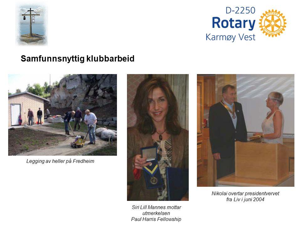 Bjarne Velde Guvernøråret 2001-2002 Jeg vil si at rotaryåret 2001-2002 var et positivt år for klubben.