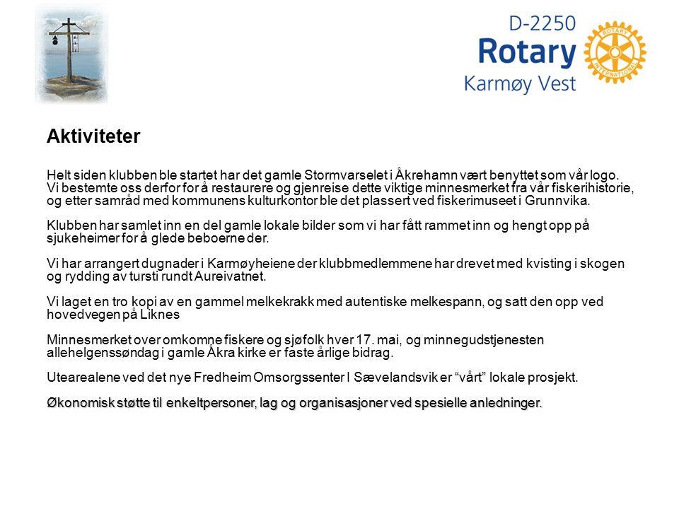 Ungdomsutveksling Karmøy Vest Rotaryklubb har i mange år sendt ut elever i videregående skole til et spennende skoleår i utlandet.