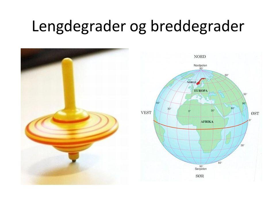 Lengdegrader og breddegrader