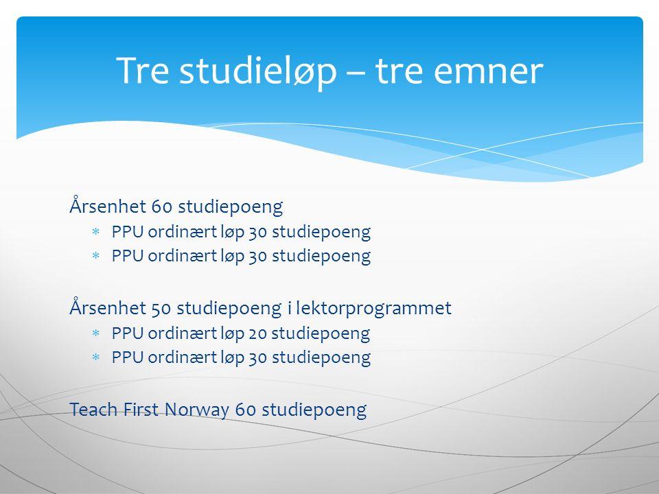 Eksamen består av 3 eksamensdeler: 1.Praksis 2.Skriftlig 6-timers eksamen i pedagogikk og fagdidaktikk primærfag 3.Hjemmeeksamen i fagdidaktikk sekundærfag 60 studiepoeng Eksamenskomponentene TFN