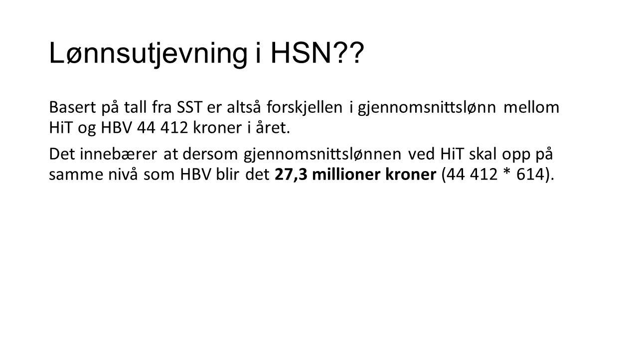 Lønnsutjevning i HSN .