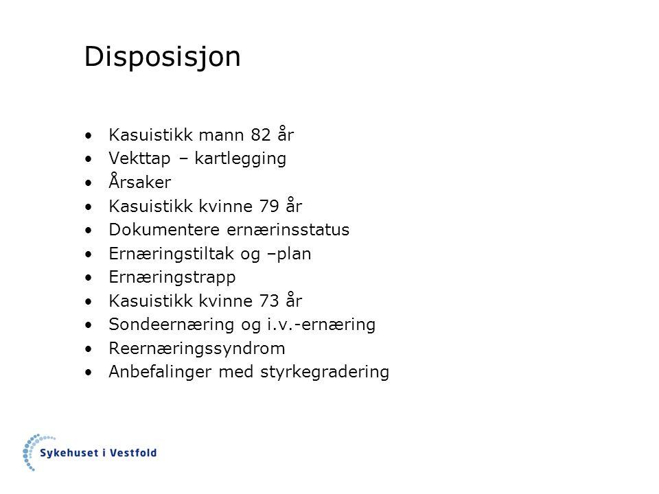 Supplerende undersøkelser Prestatus: samtale med nabo Bekymringsmelding til fastlegen: 4 mnd tidligere og 1 uke før innleggelse.