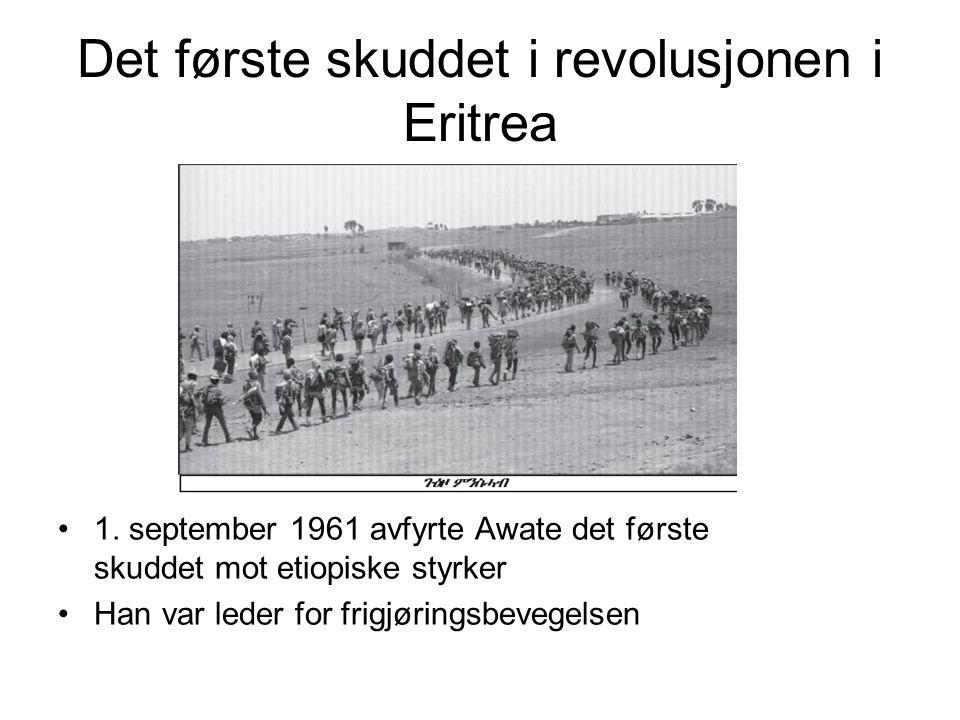 Det første skuddet i revolusjonen i Eritrea 1.