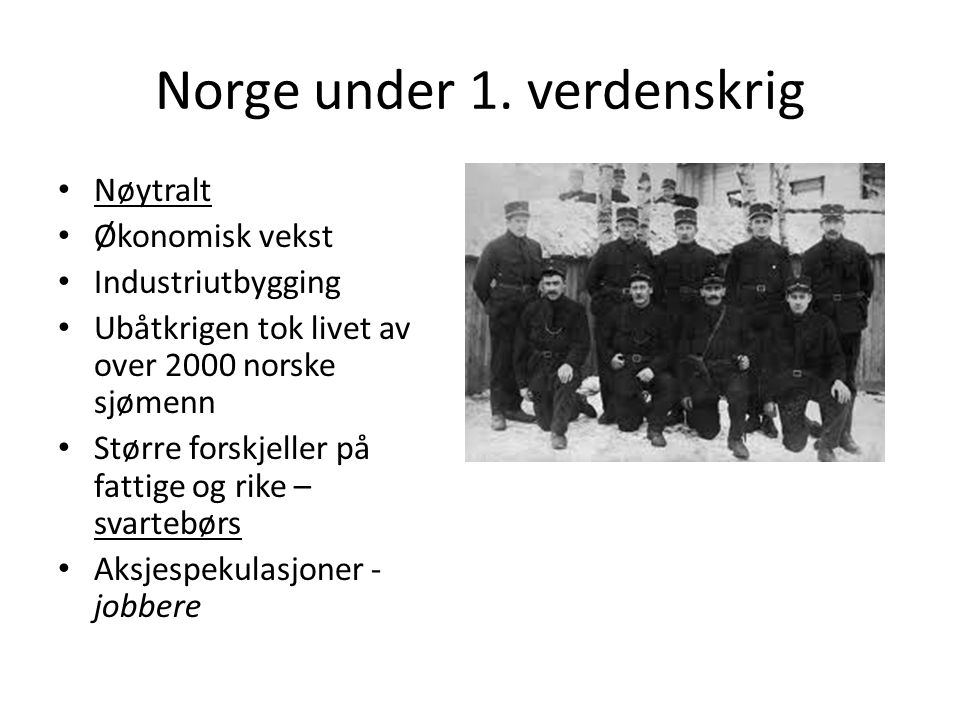 Norge under 1.
