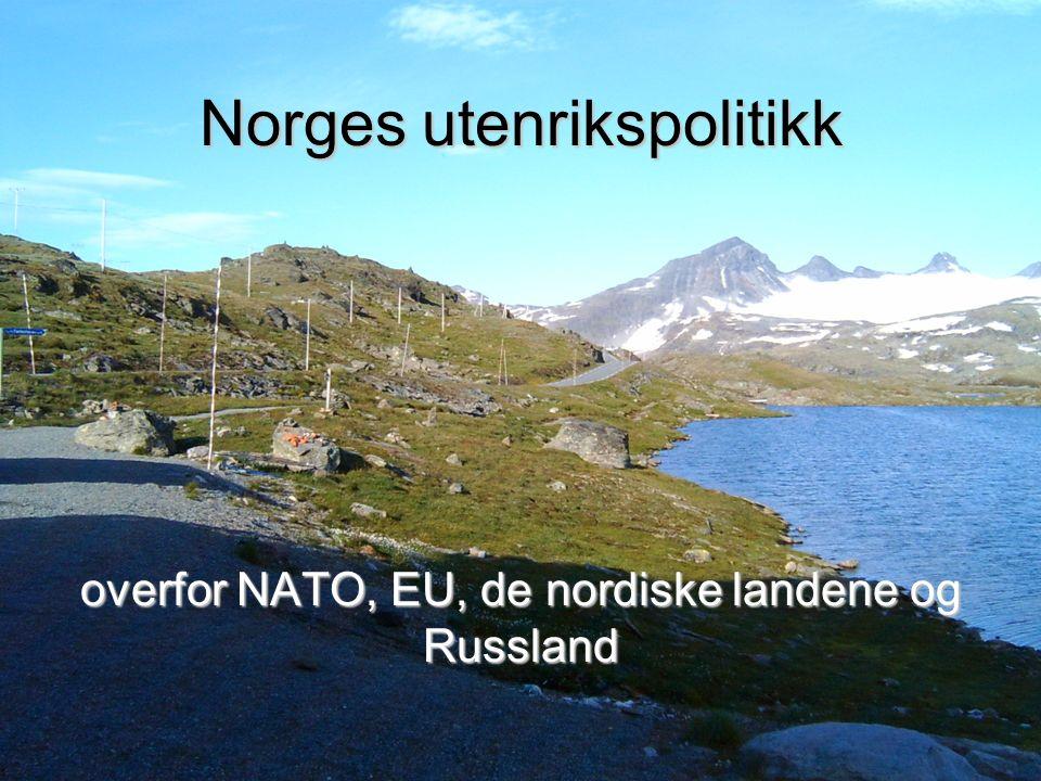 Norges utenrikspolitikk overfor NATO, EU, de nordiske landene og Russland