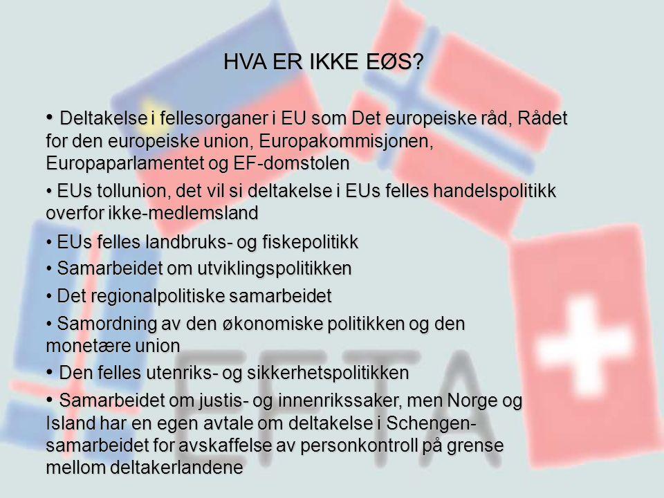 HVA ER IKKE EØS.