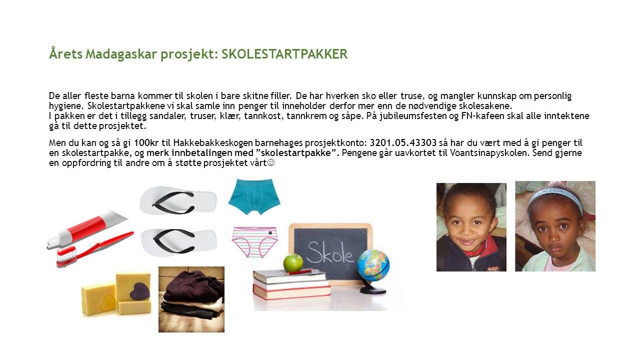 Årets Madagaskar prosjekt: SKOLESTARTPAKKER De aller fleste barna kommer til skolen i bare skitne filler.