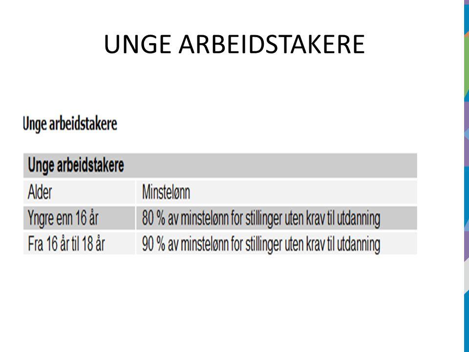 UNGE ARBEIDSTAKERE