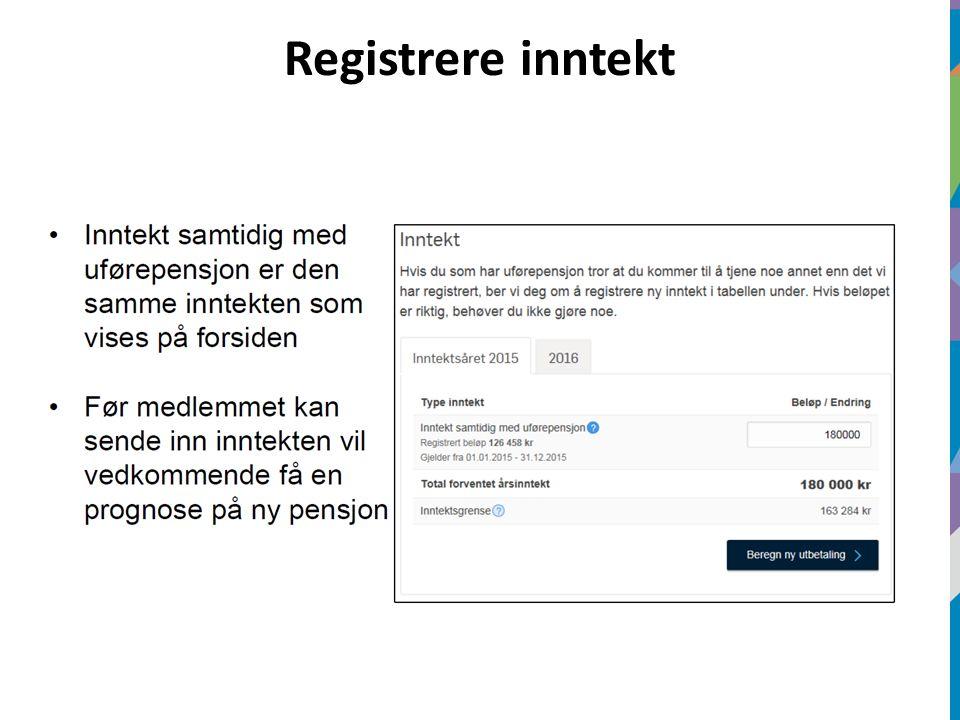Registrere inntekt